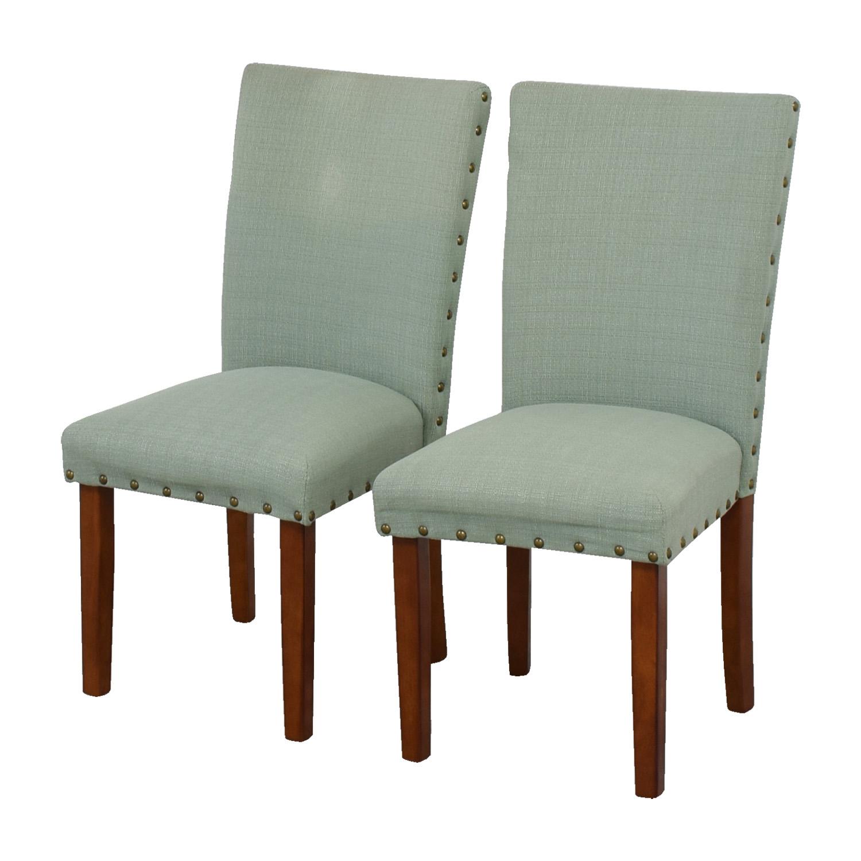 Seafoam Upholstered Nailhead Chairs used