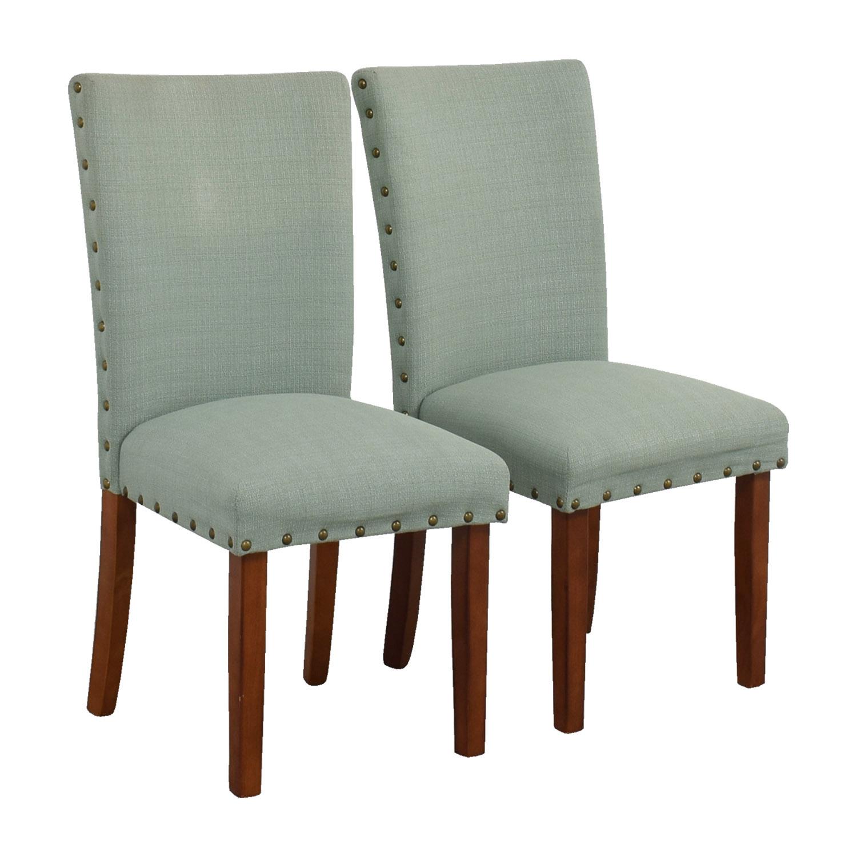 Seafoam Upholstered Nailhead Chairs on sale