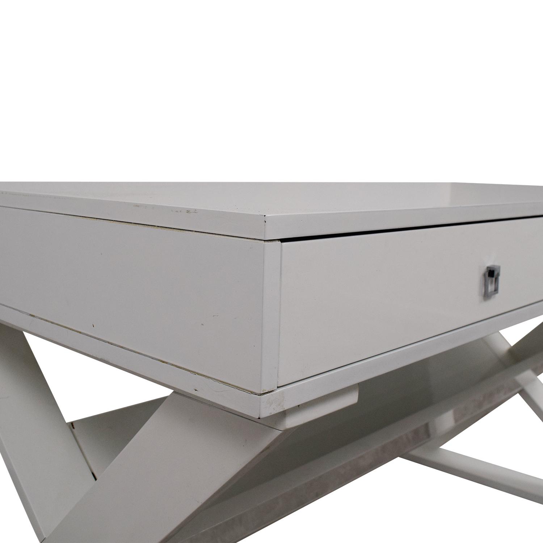 Z Gallerie Z Gallerie Jett White Lacquer Desk price
