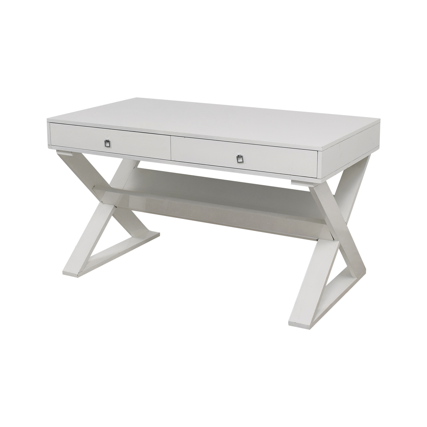 Z Gallerie Jett White Lacquer Desk