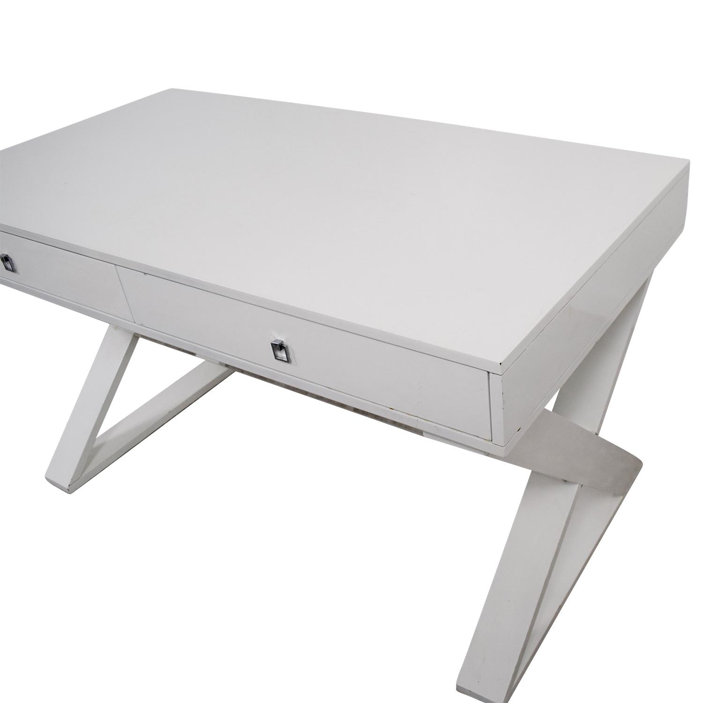 Z Gallerie Jett White Lacquer Desk / Home Office Desks
