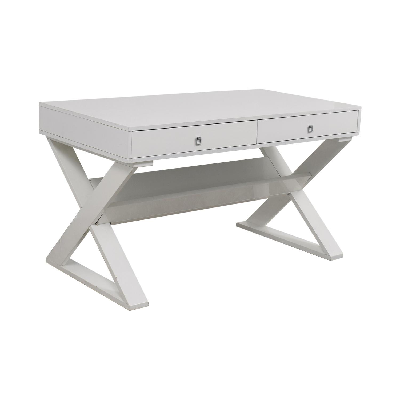 shop Z Gallerie Z Gallerie Jett White Lacquer Desk online
