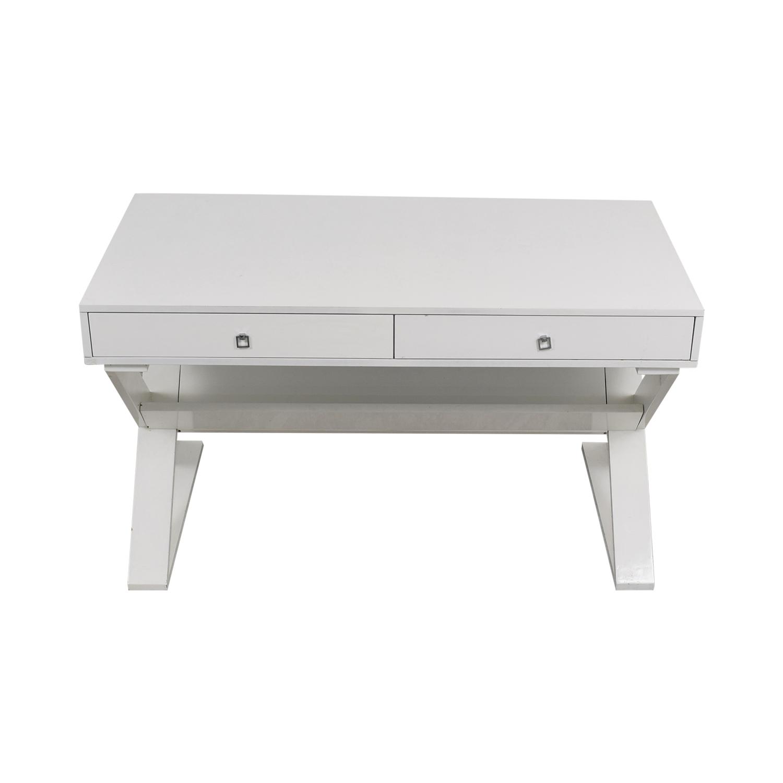 shop Z Gallerie Jett White Lacquer Desk Z Gallerie Tables