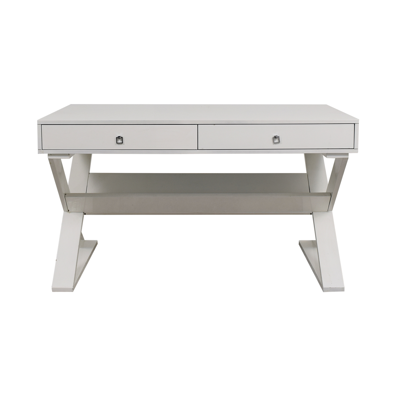 Z Gallerie Z Gallerie Jett White Lacquer Desk dimensions