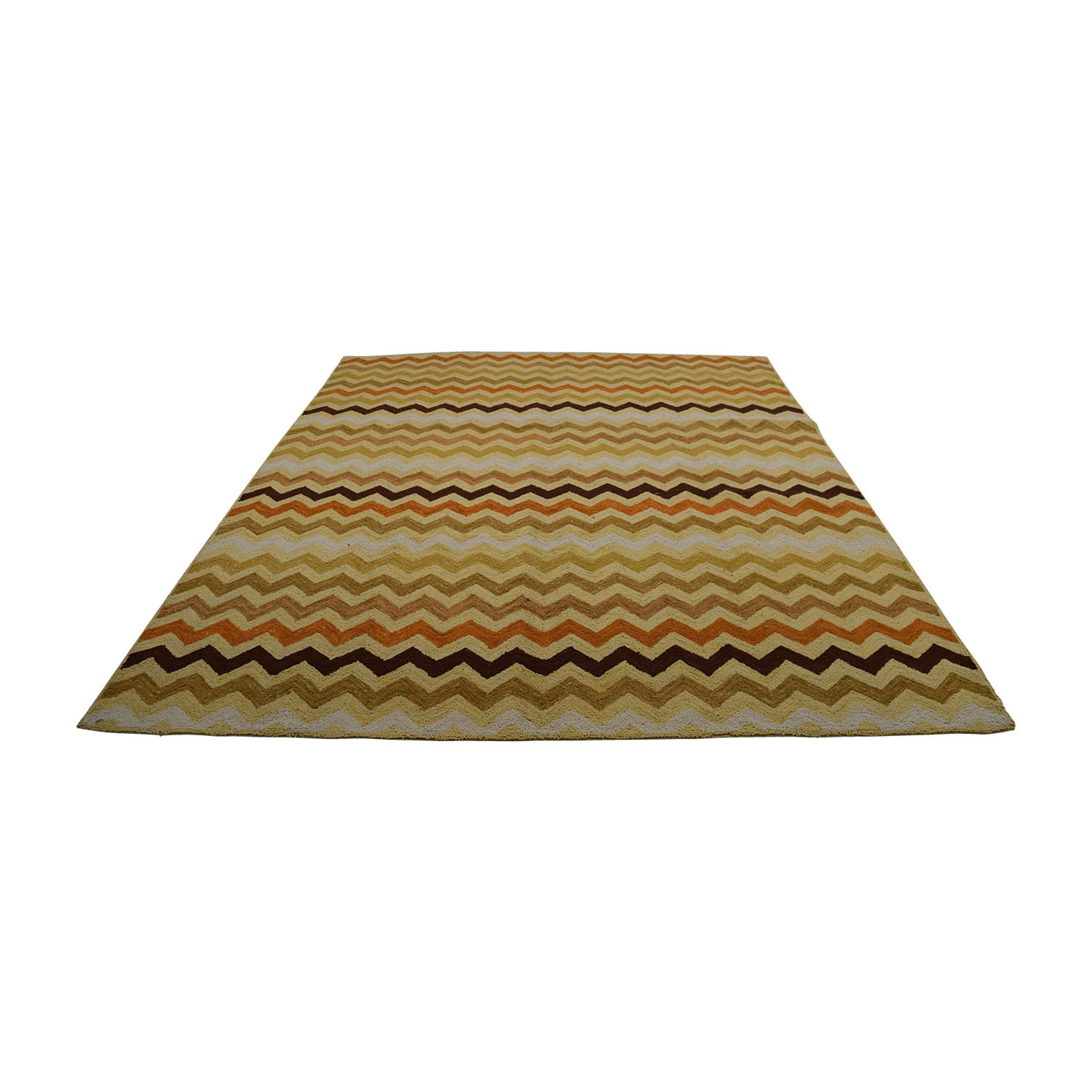 Obeetee Hand Hooked Summit Beige Tan Brown and Orange Rug / Decor