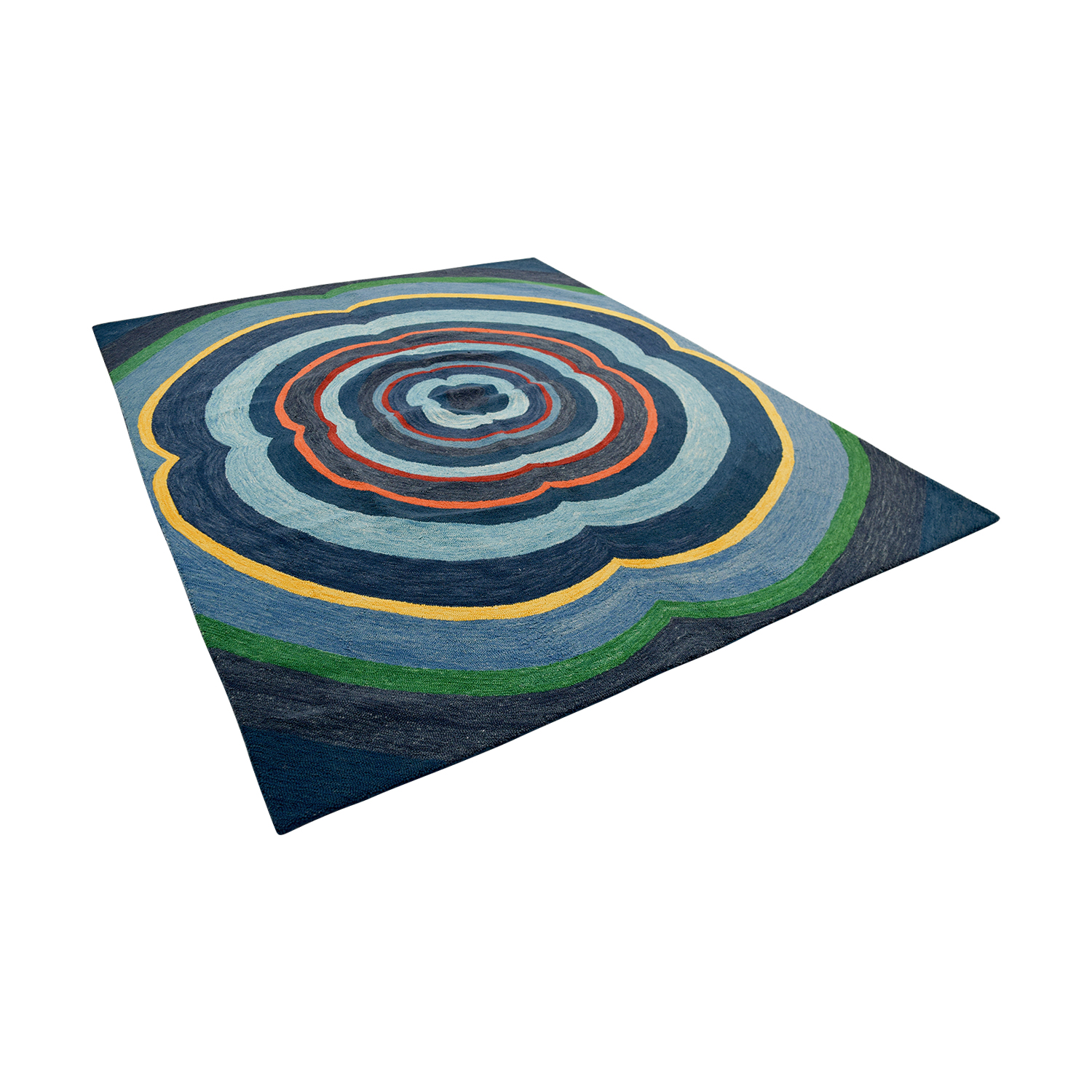 Obeetee Obeetee Annapolis Blue Hand Hooked Rug second hand