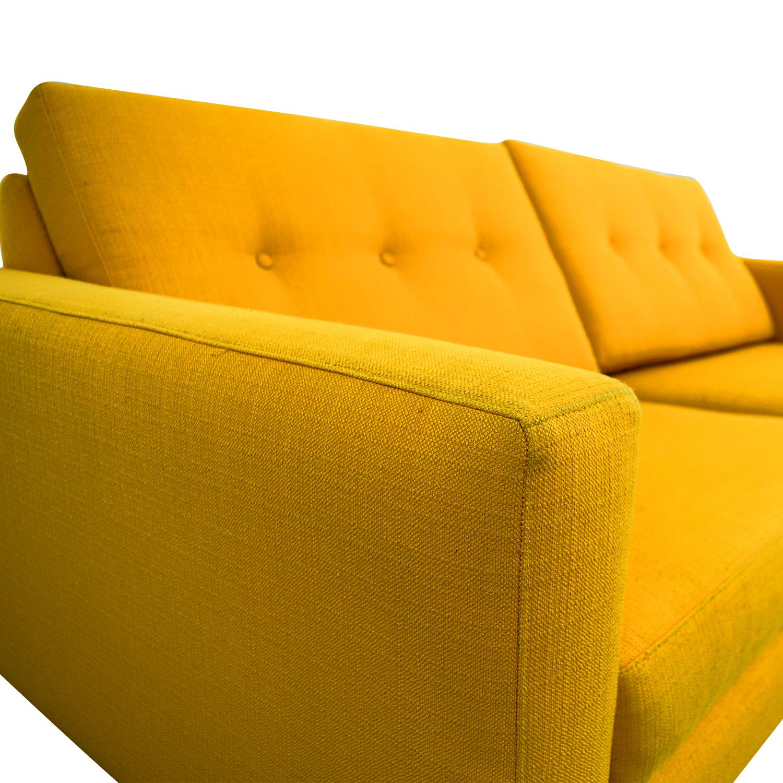 True Modern True Modern Luna Mid-Century Citrus Sofa on sale