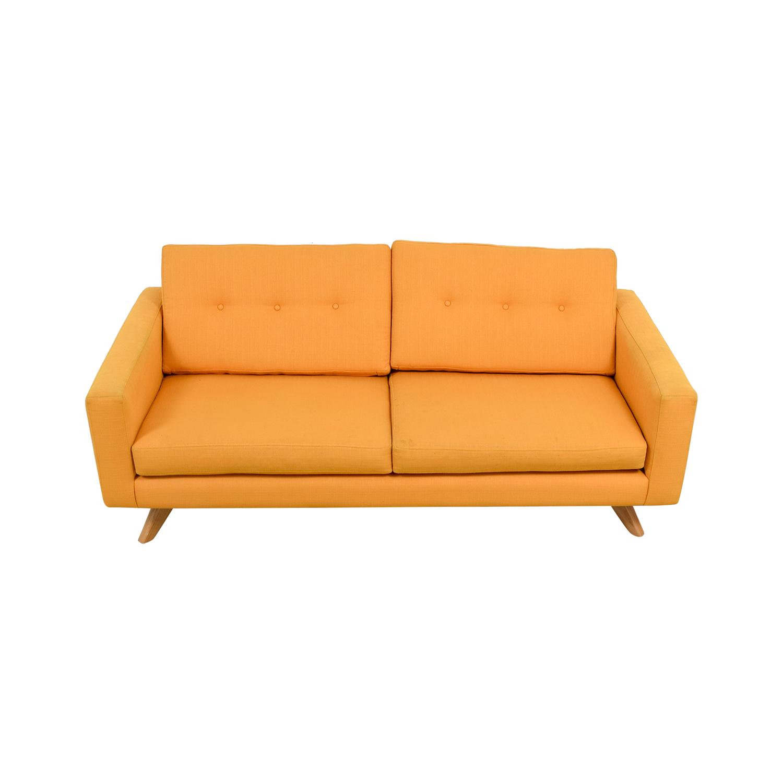 True Modern Luna Mid-Century Citrus Sofa True Modern