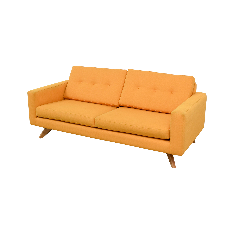 True Modern True Modern Luna Mid-Century Citrus Sofa for sale