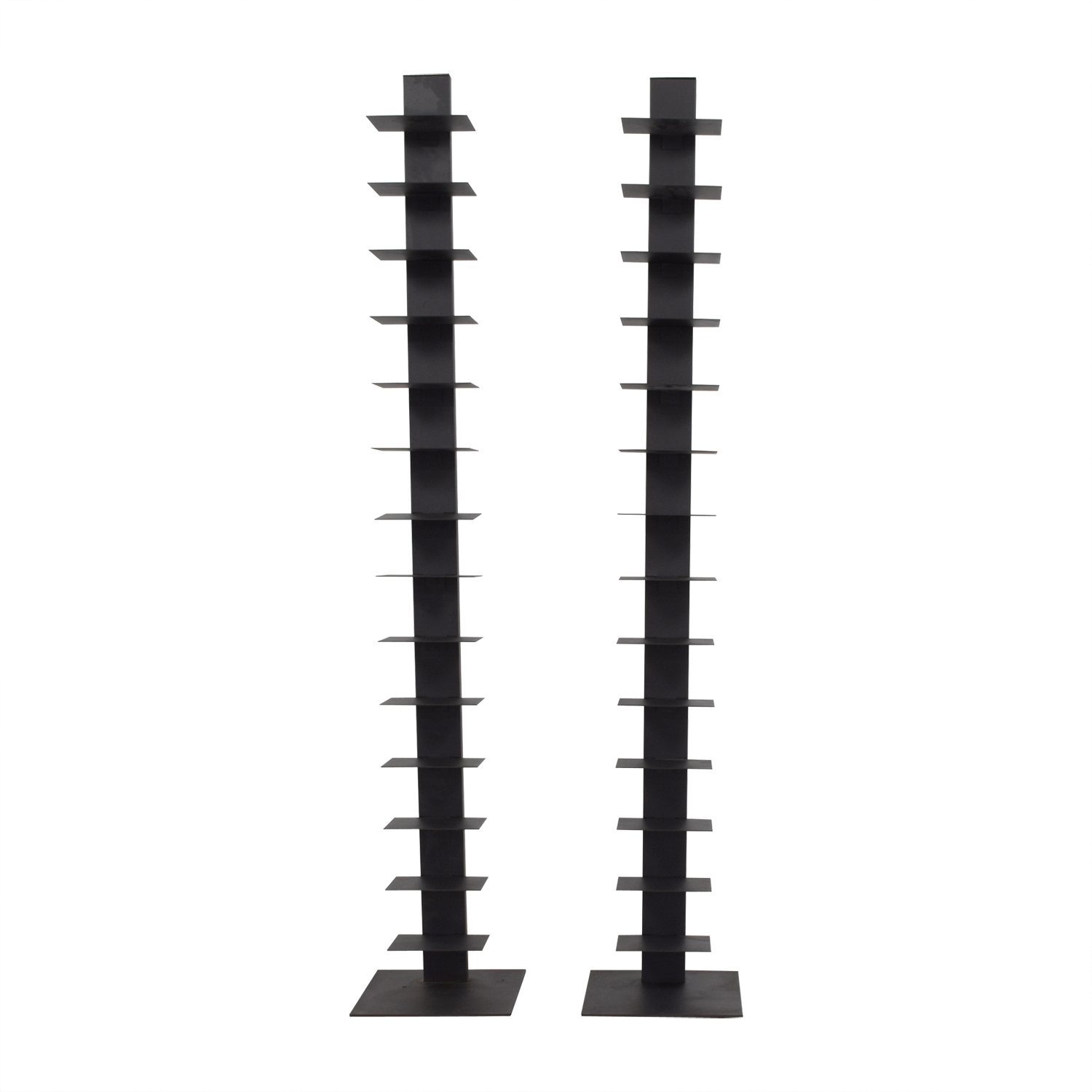 Sapian Sapian Black Metal Bookshelves dimensions