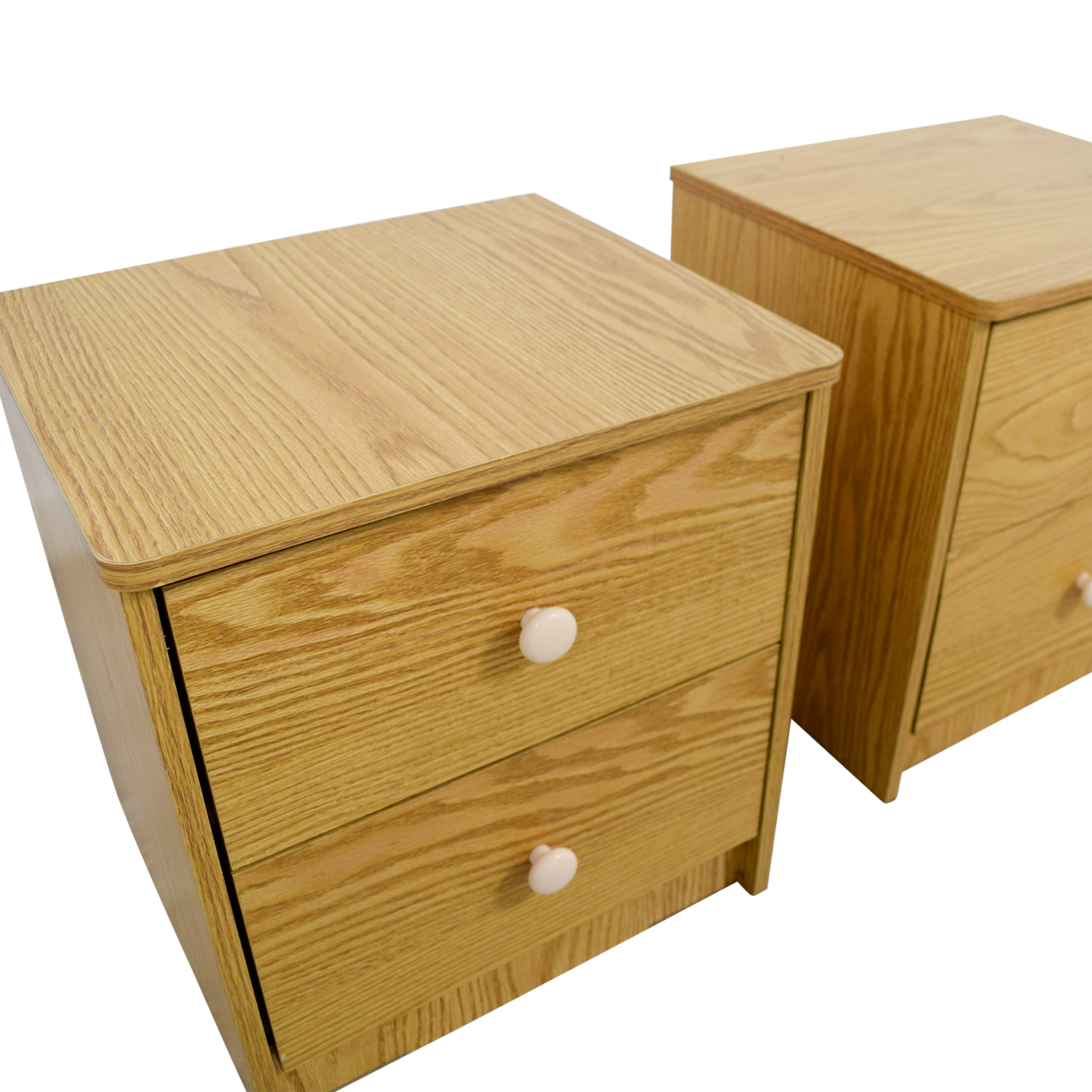 Natural Wood End Tables dimensions