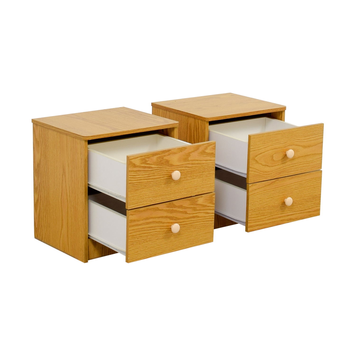 Natural Wood End Tables for sale