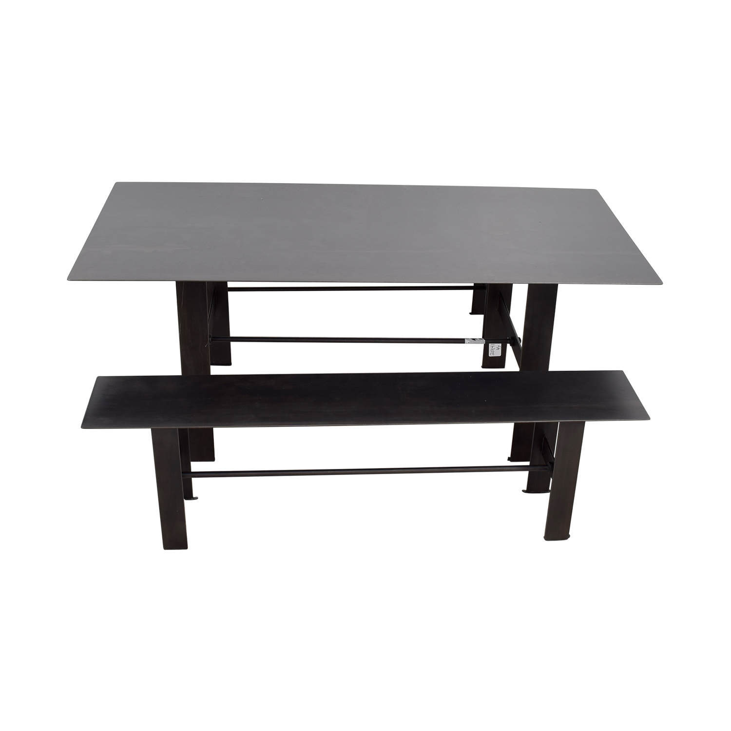 buy Stretcher Stretcher Black Steel Dining Set online