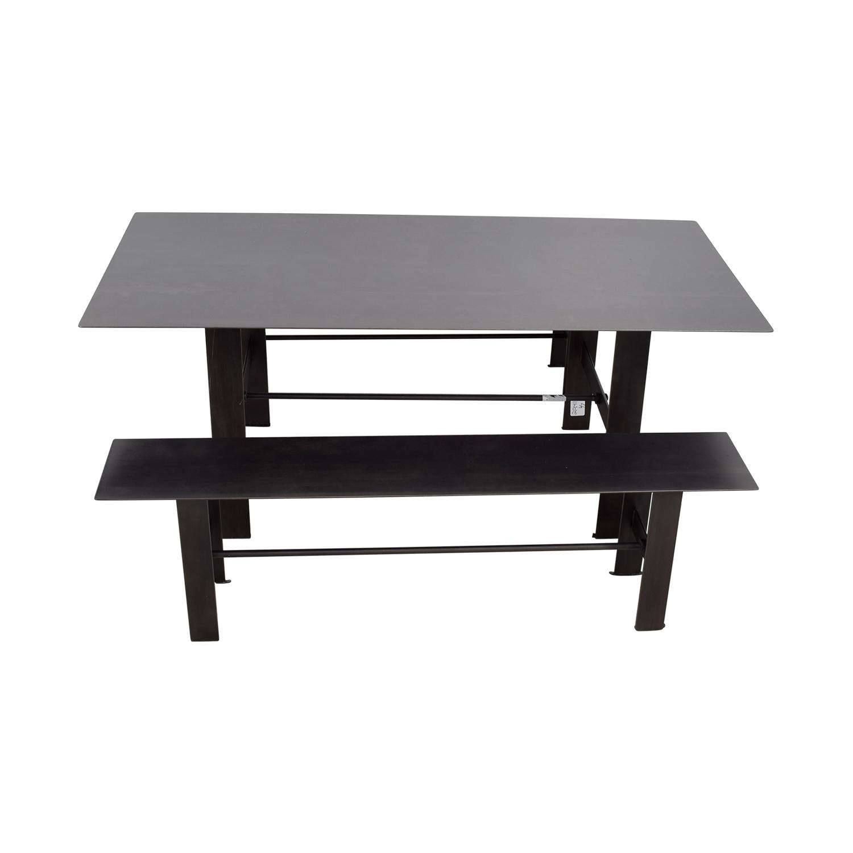 shop Stretcher Black Steel Dining Set Stretcher
