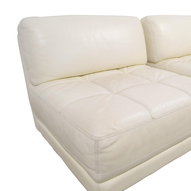 Macy's Macy's Modulara White Leather Chairs dimensions