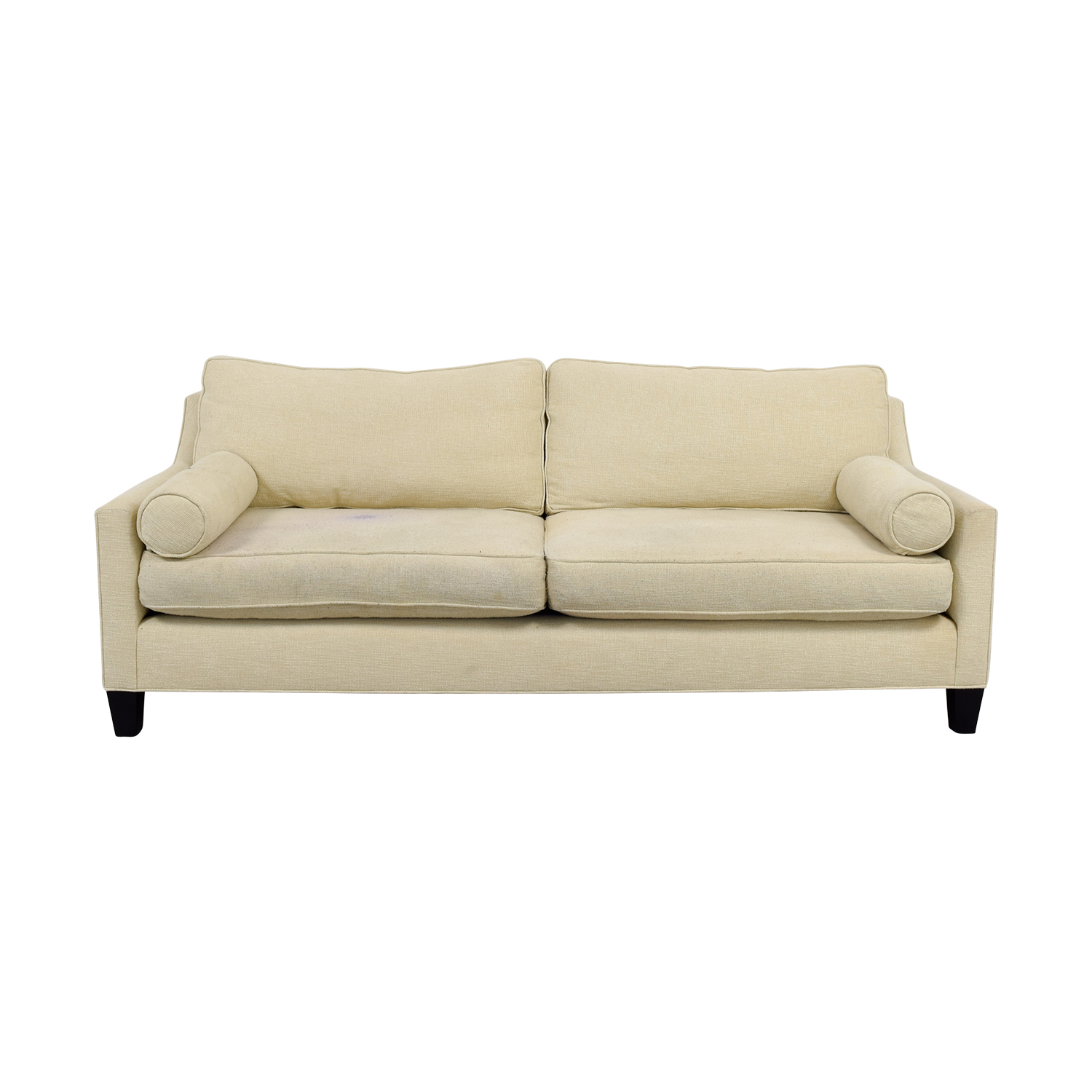 BSC Furniture BSC Furniture Beige Two-Cushion Sofa Off White