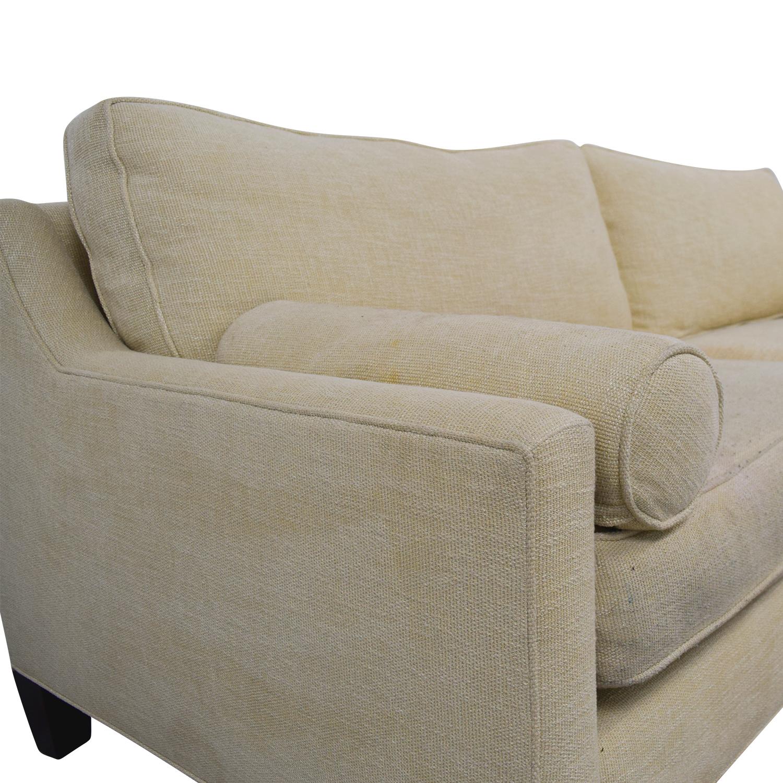 shop BSC Furniture Beige Two-Cushion Sofa BSC Furniture Classic Sofas