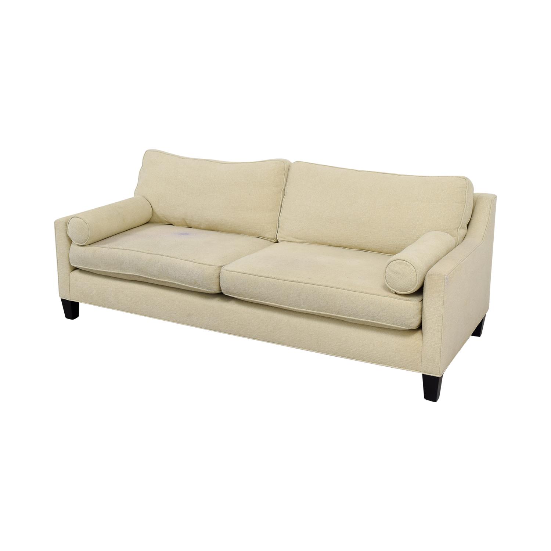 BSC Furniture BSC Furniture Beige Two-Cushion Sofa nyc