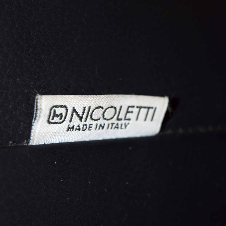 Nicoletti Nicoletti Black Leather Loveseat nj