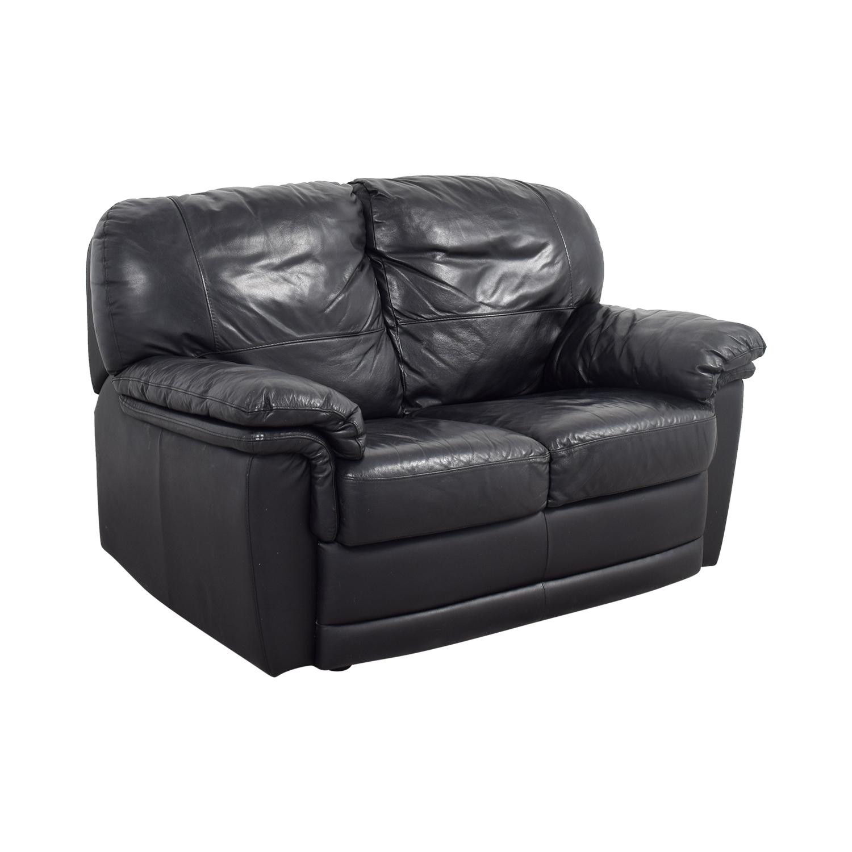 buy Nicoletti Nicoletti Black Leather Loveseat online
