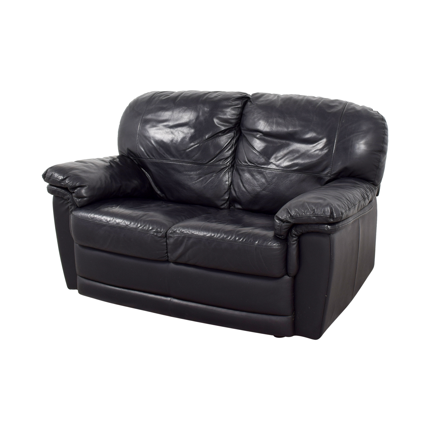 Cool 70 Off Nicoletti Home Nicoletti Black Leather Loveseat Sofas Dailytribune Chair Design For Home Dailytribuneorg