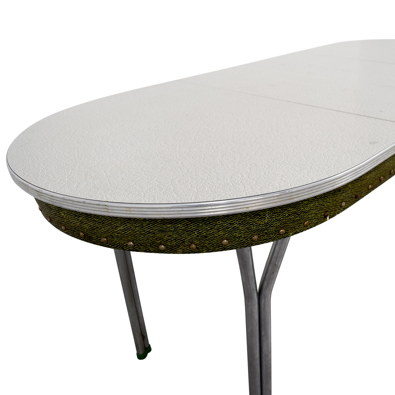 Vintage 1950s Green Formica Table with Inserts sale