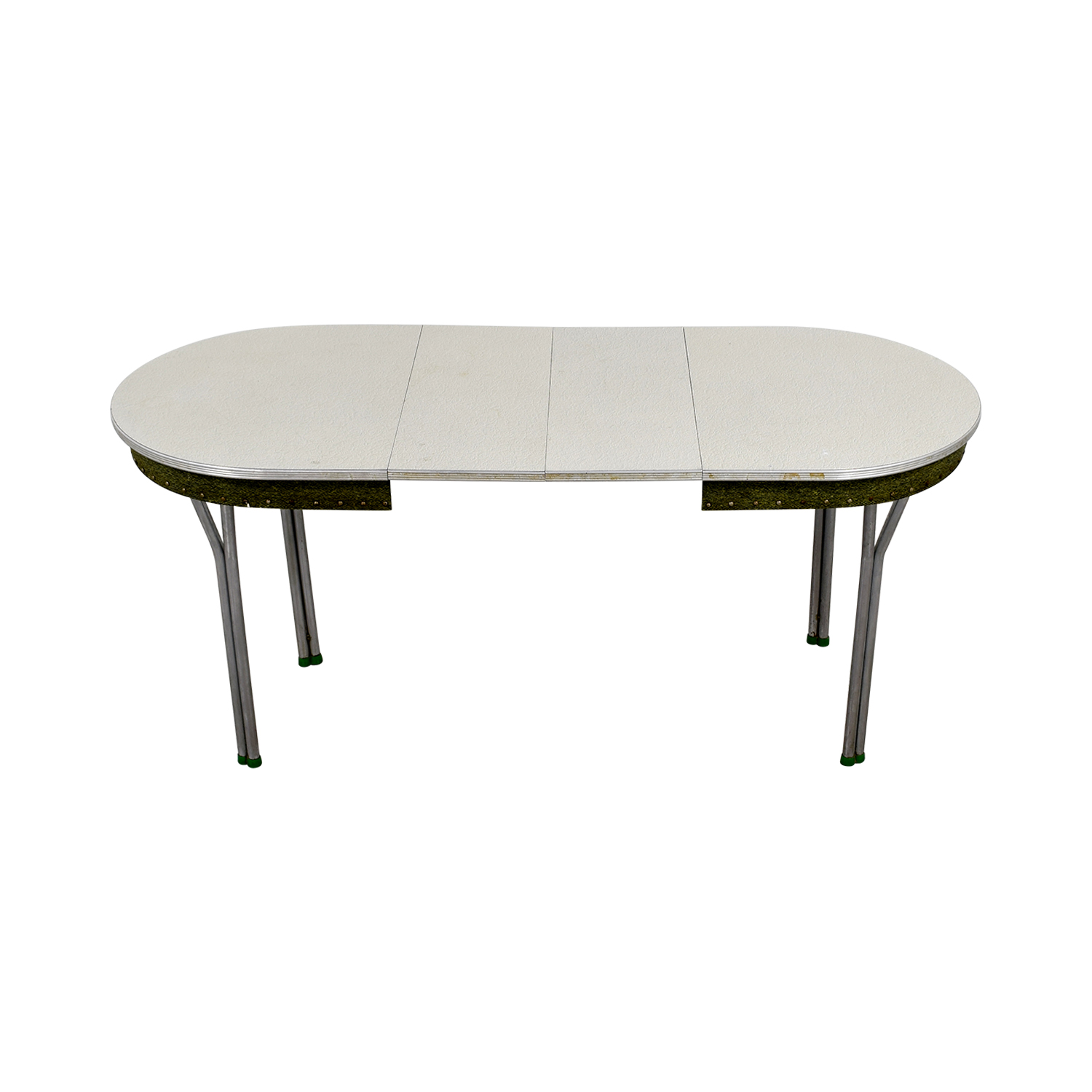 Vintage 1950s Green Formica Table with Inserts / Tables