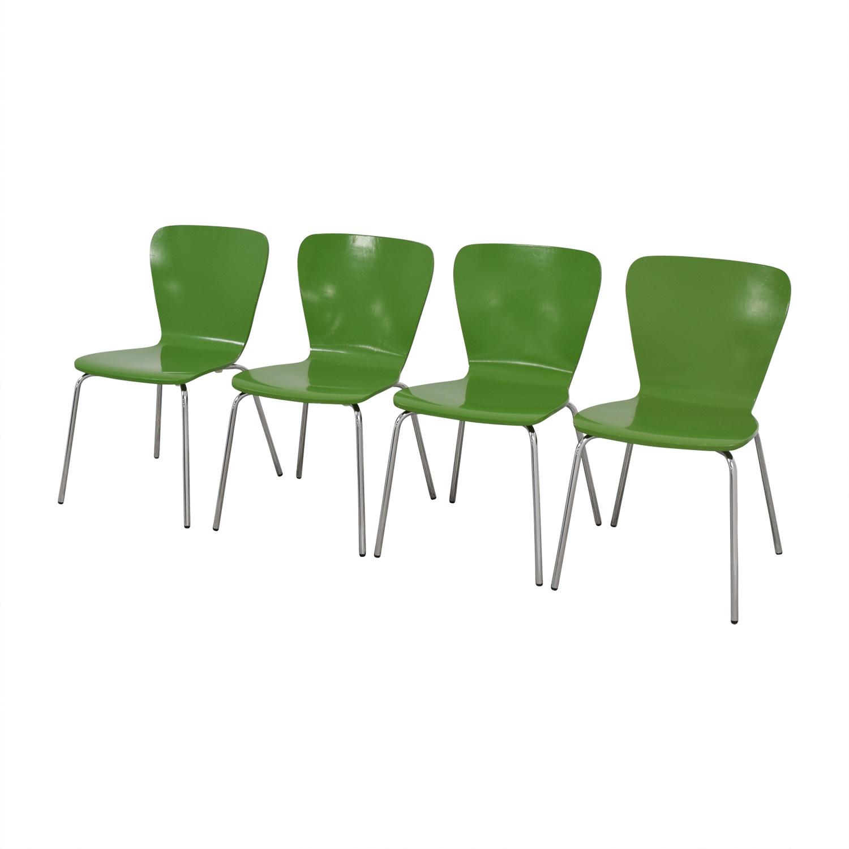 Crate & Barrel Crate & Barrel Felix Chairs Green