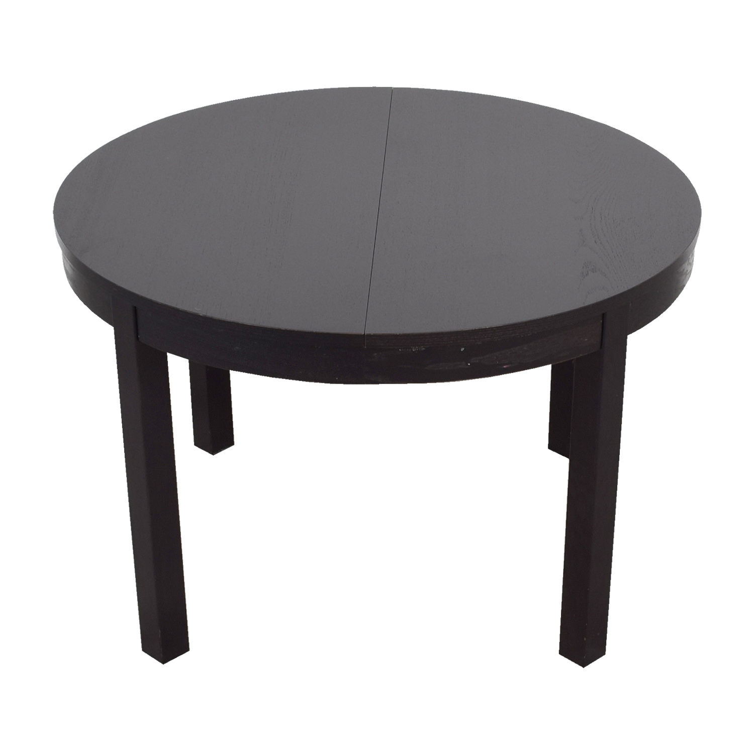 69 off ikea ikea bjursta extendable round to oval dining table tables - Ikea round extendable table ...
