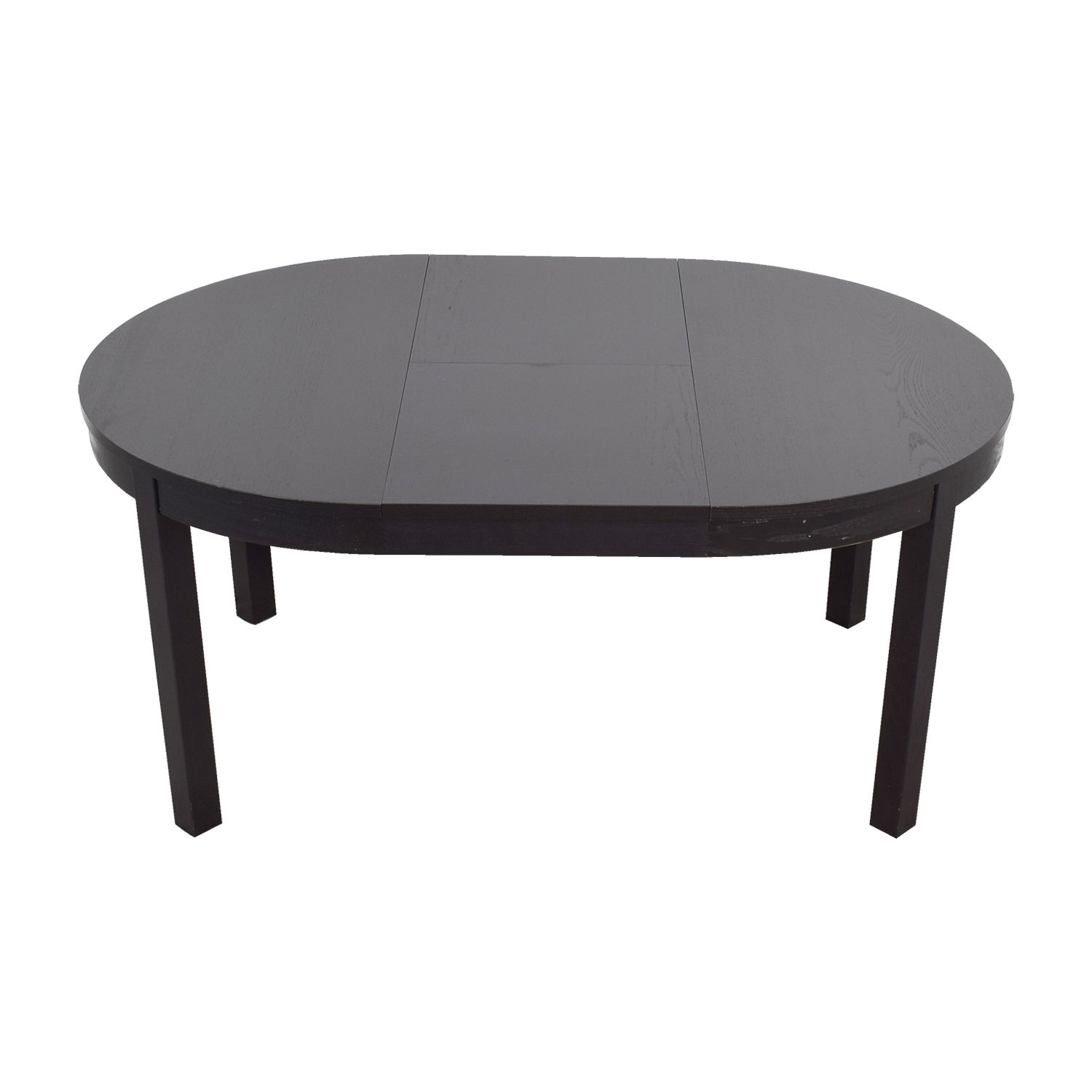 75 off ikea ikea bjursta extendable round to oval dining table tables - Ikea round extendable table ...