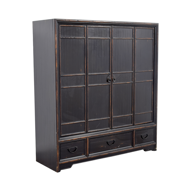 buy Ethan Allen Wood Media Cabinet Ethan Allen