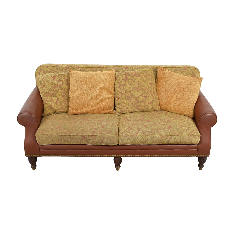 Huffman Koos Huffman Koos Leather and Jacquard Sofa dimensions