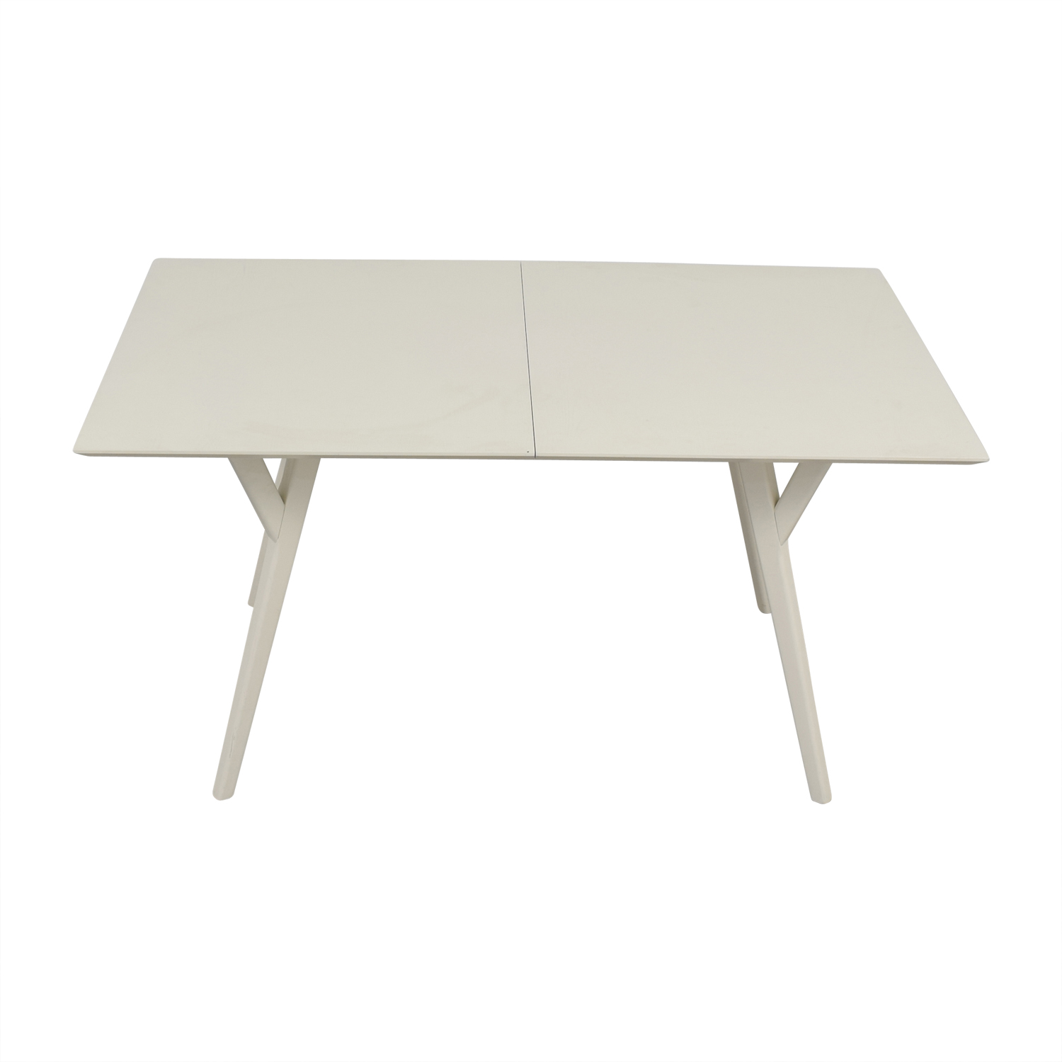 buy West Elm Mid Century White Expandable Dining Table West Elm Dinner Tables