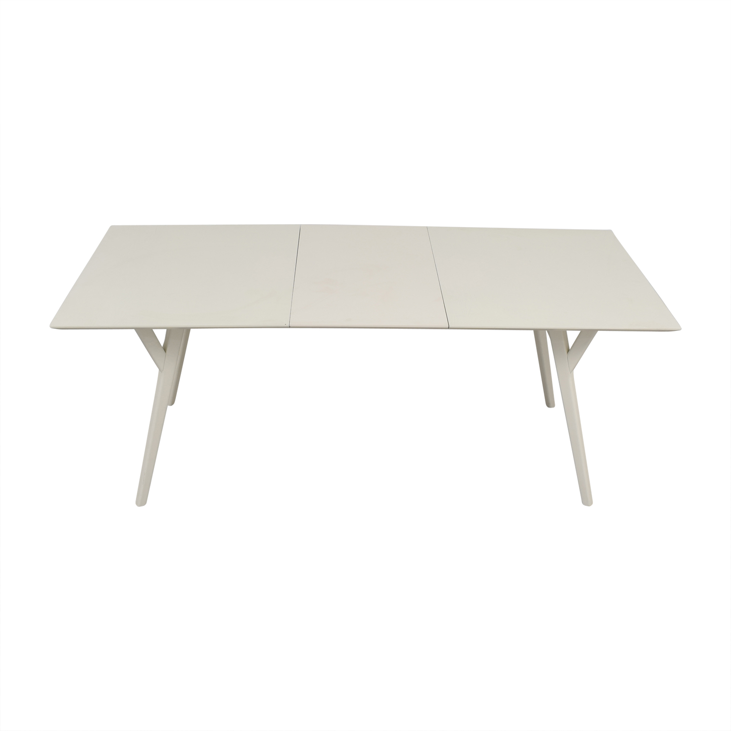 West Elm West Elm Mid Century White Expandable Dining Table for sale