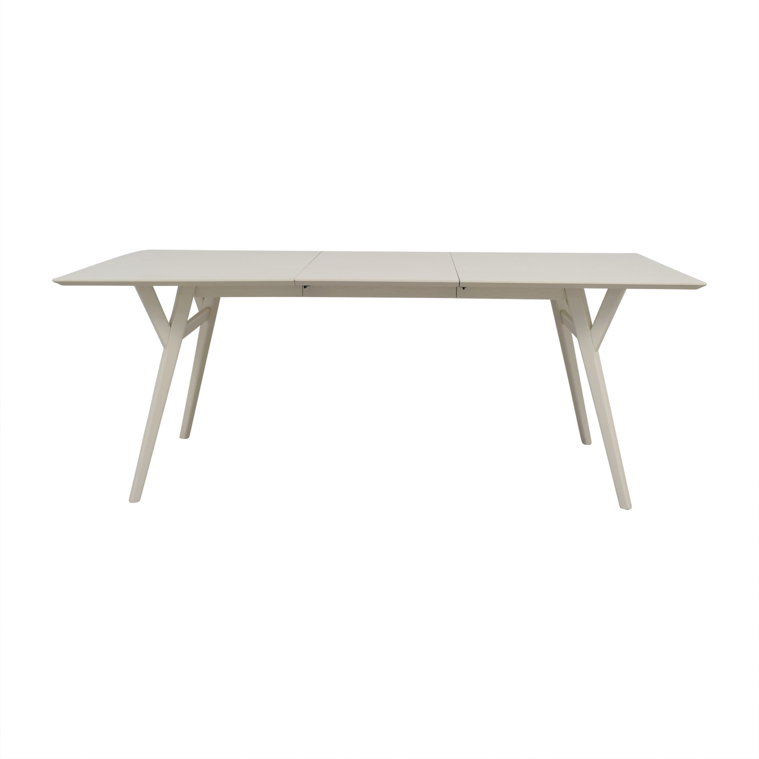 West Elm Mid Century White Expandable Dining Table Tables