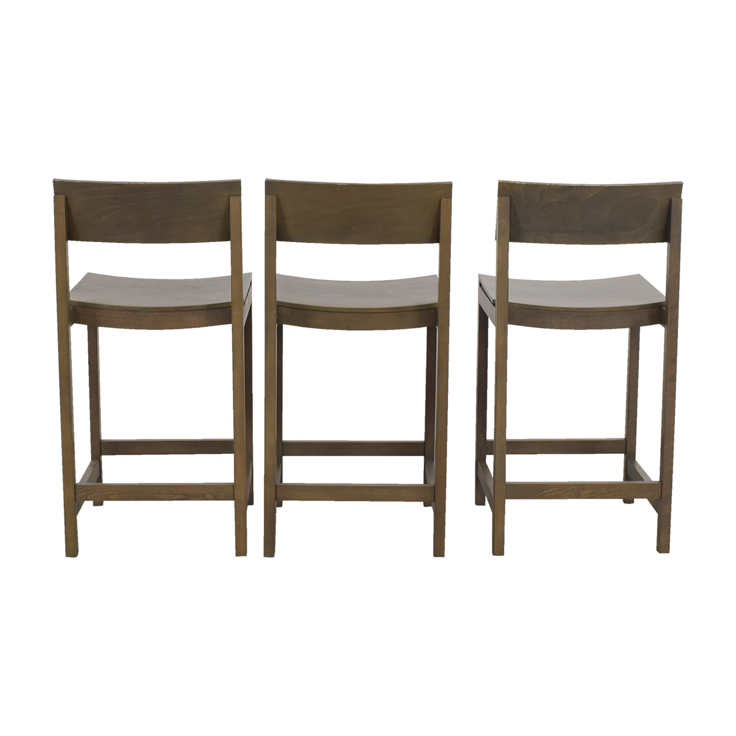 shop CB2 CB2 Slide Grey Tan Counter Stools online