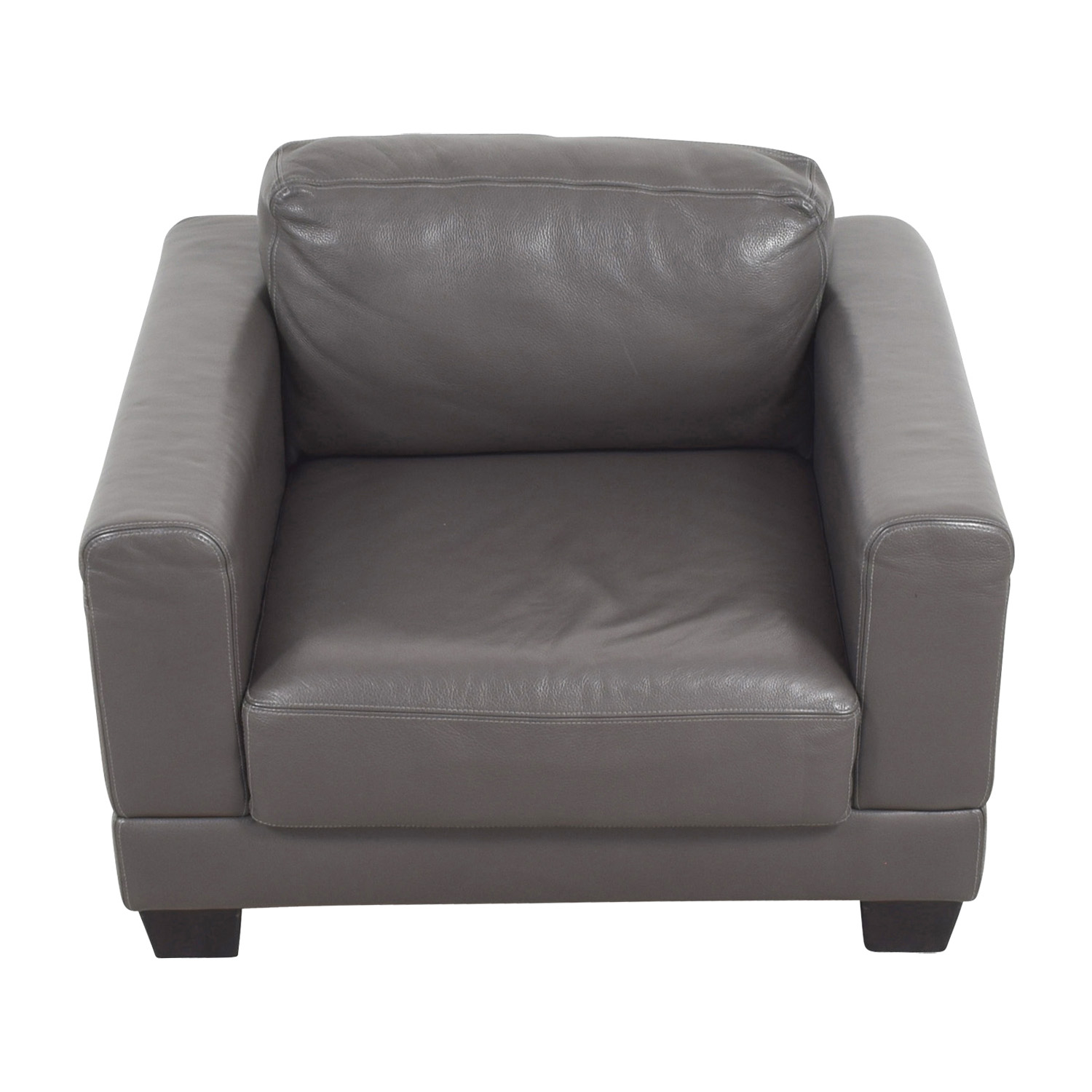Gray Leather Armchair / Chairs