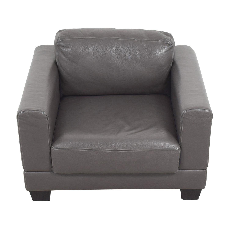 shop Gray Leather Armchair