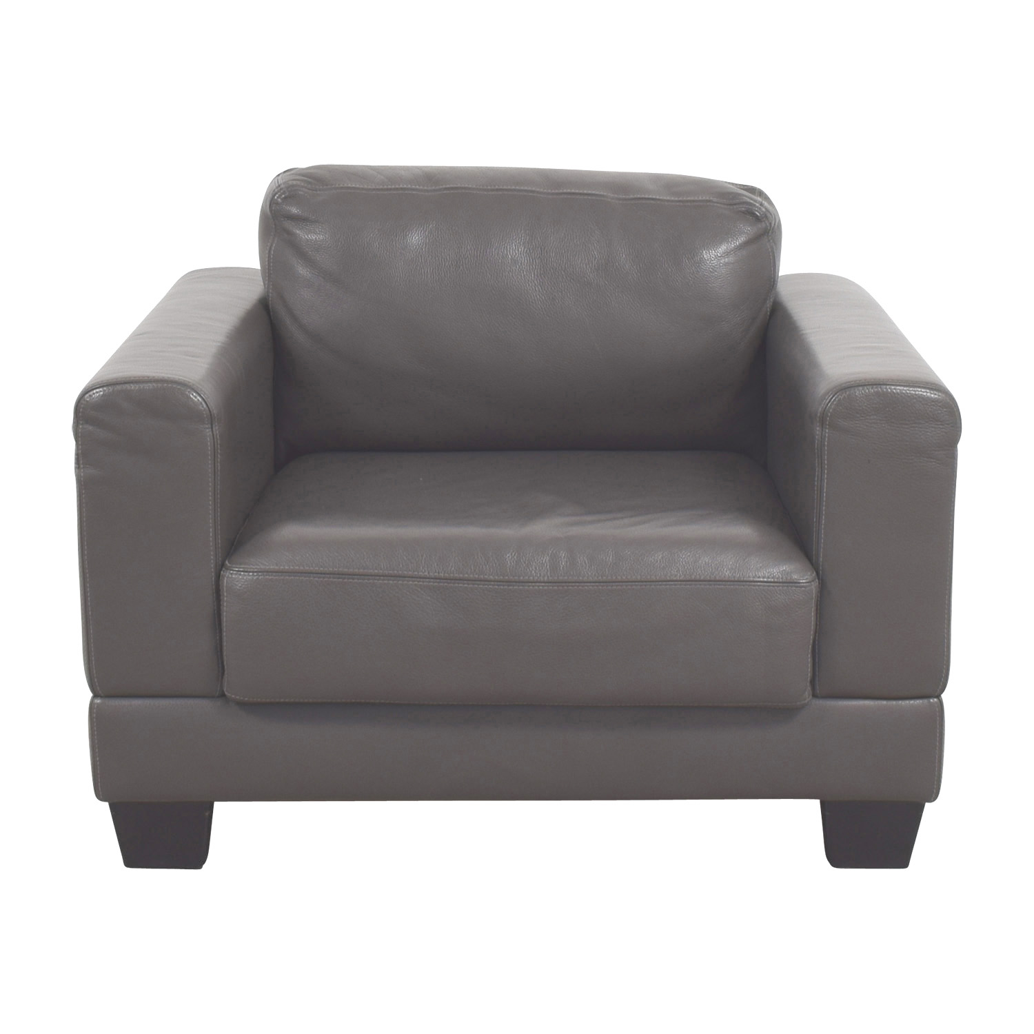 Gray Leather Armchair Accent Chairs