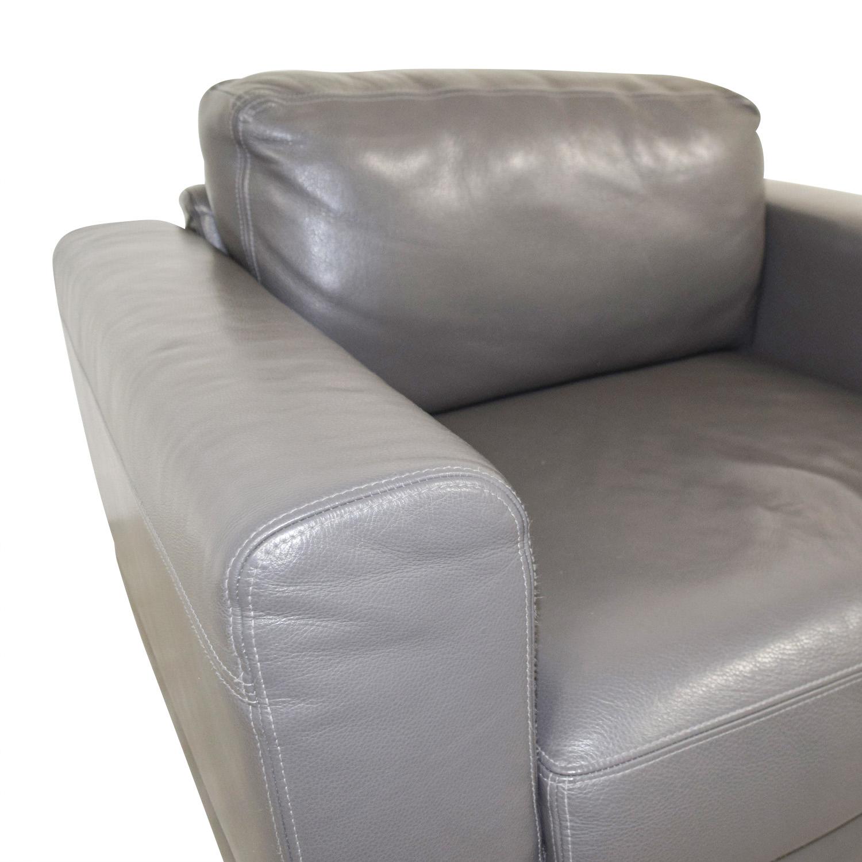buy Gray Leather Armchair