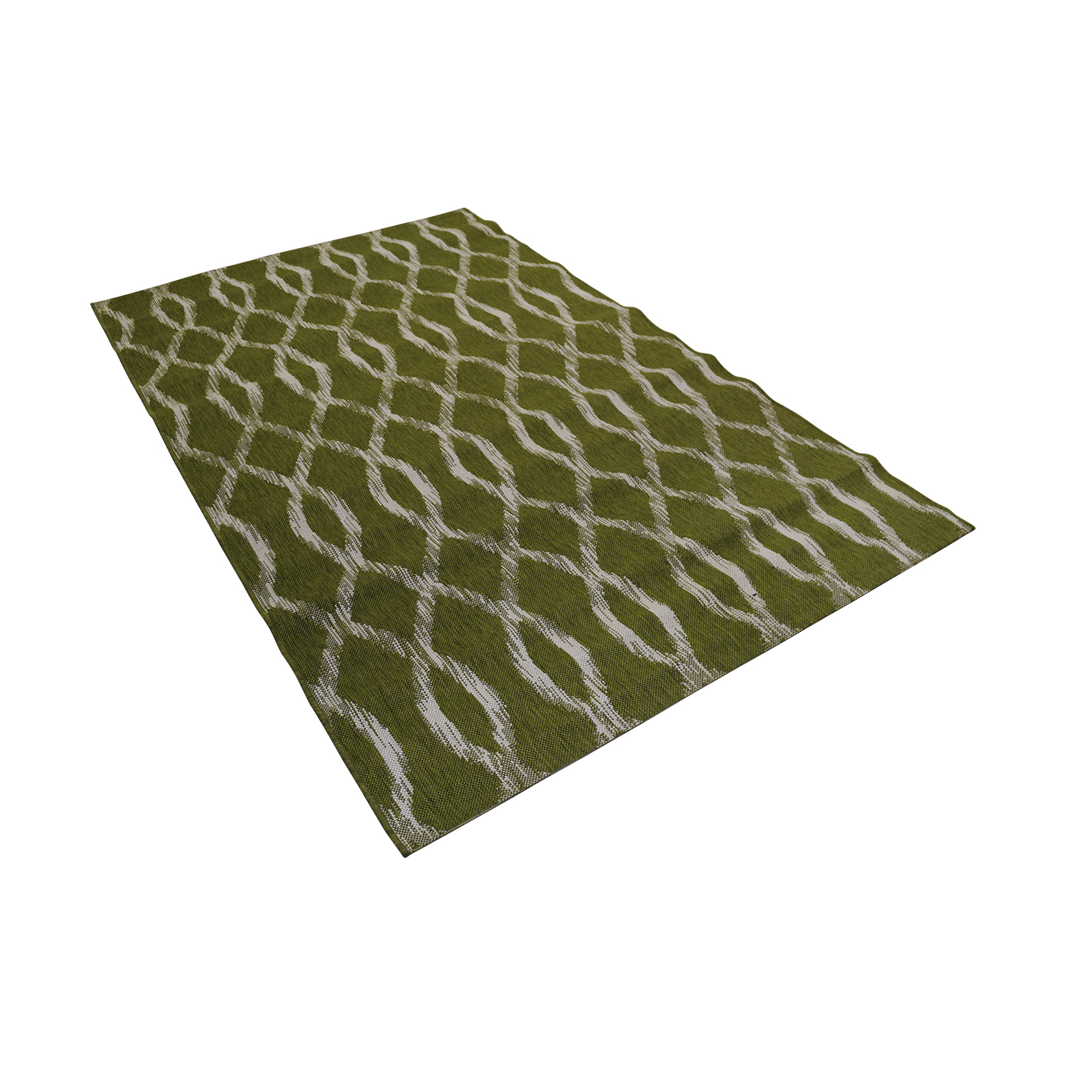 buy Crate & Barrel Indoor and Outdoor Green and White Rug Crate & Barrel Rugs