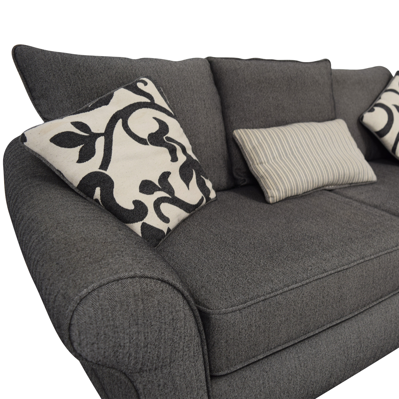 Grey Herringbone Sofa grey