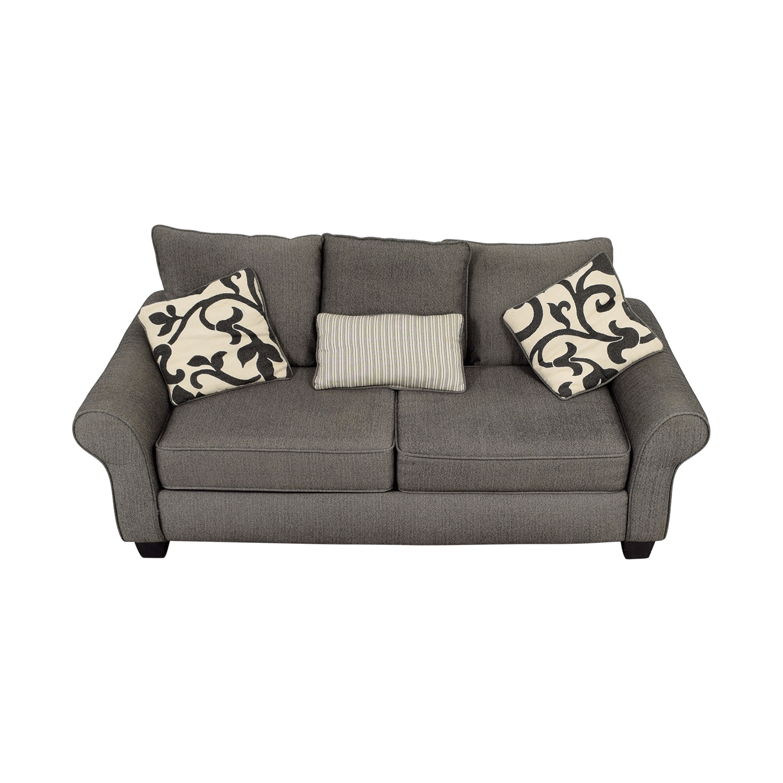 Grey Herringbone Sofa / Sofas