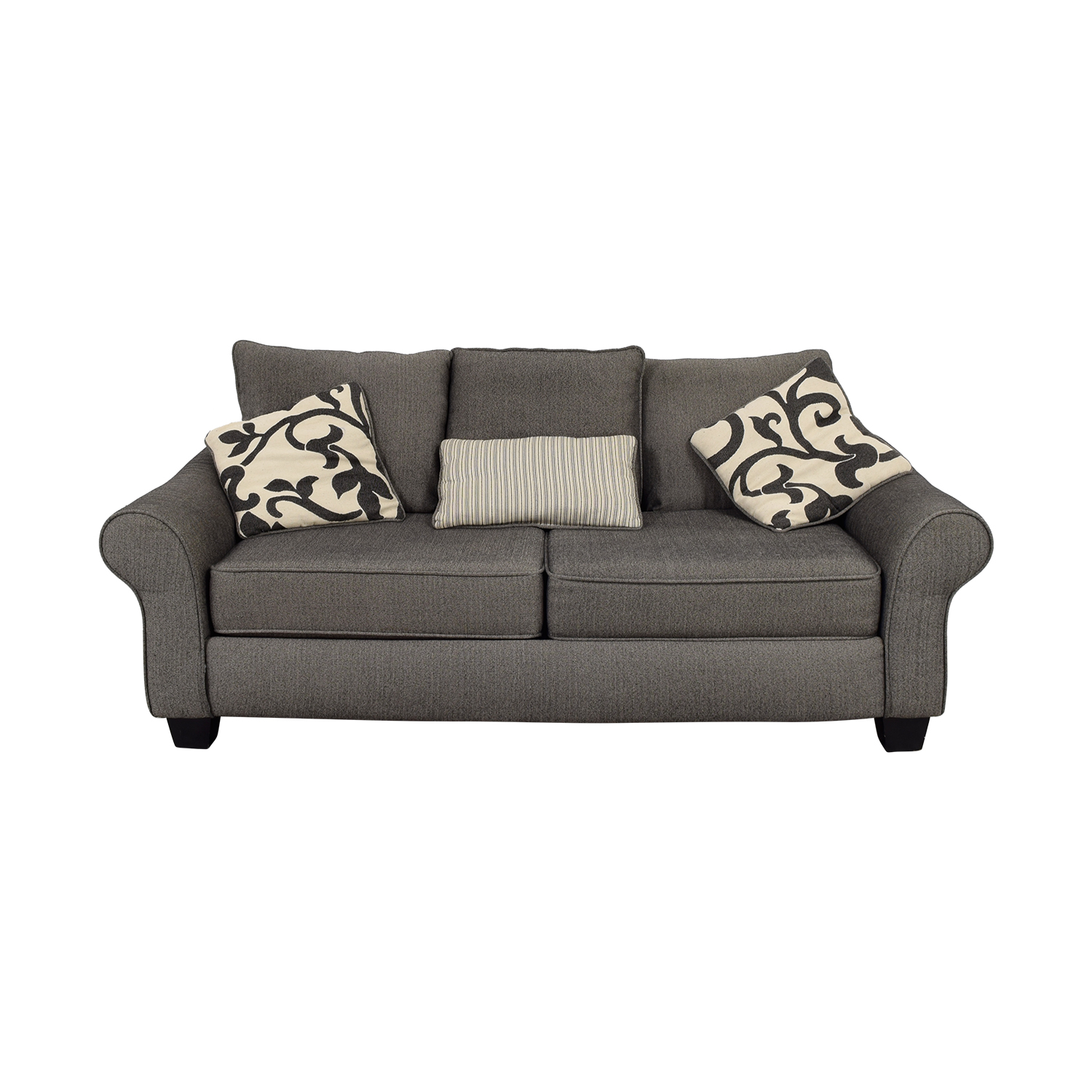 Grey Herringbone Sofa nyc