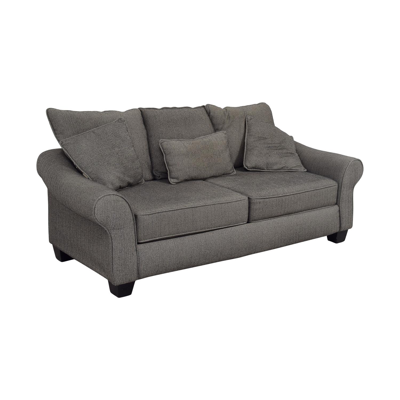 Grey Herringbone Sofa coupon
