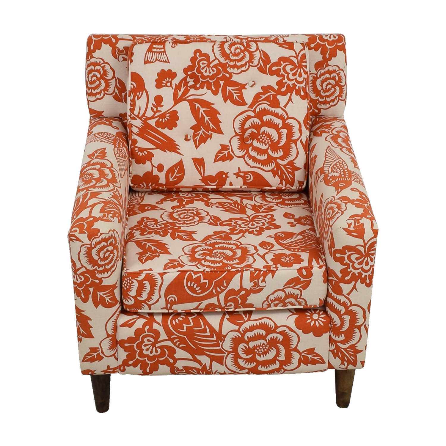 ... Orange Floral Accent Armchair Dimensions ...