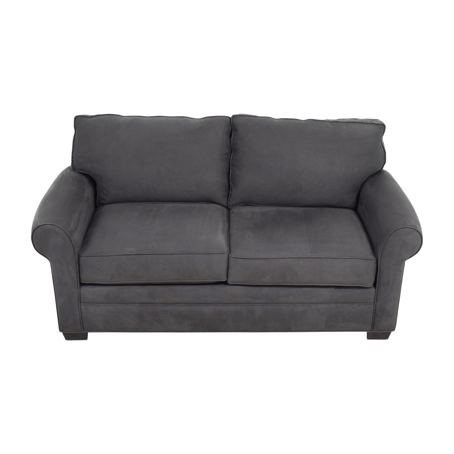 Raymour and Flanigan Raymour & Flanigan Glendora Grey Loveseat for sale