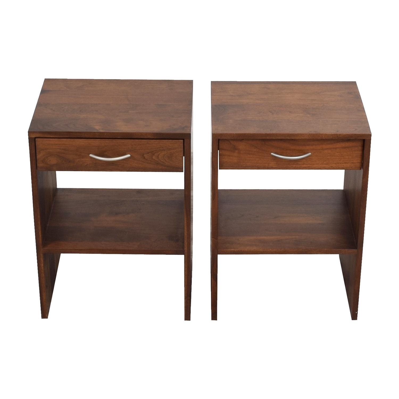 Custom Single Drawer Oak Nightstands for sale