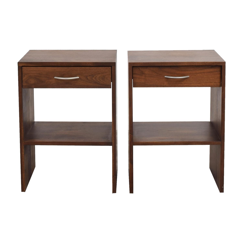 Custom Single Drawer Oak Nightstands End Tables