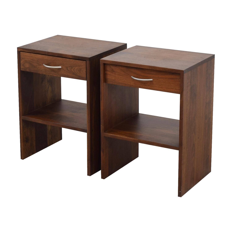 83 Off Custom Single Drawer Oak Nightstands Tables